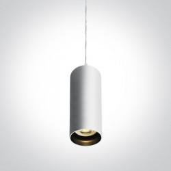 One Light mała biała lampa wisząca Ampeliko 63105N/W