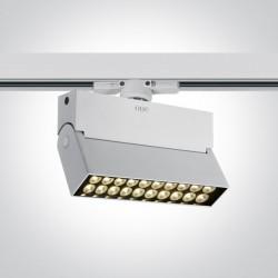 One Light reflektor na szynę do sklepu Skamnia 65020T/W/W
