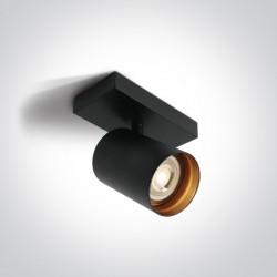 One Light kinkiet retro czarny Elatos 65105N/B