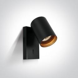 One Light kinkiet ozdobny czarny Elatos K 65105NA/B