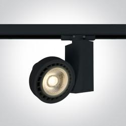 One Light reflektor na szynę czarny Polineri 65518T/B