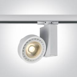 One Light reflektor na szynę biały Polineri 65518T/W
