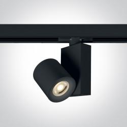 One Light czarny reflektor na szynę 20W Kipseli 65519T/B