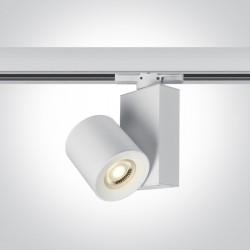 One Light biały reflektor na szynę 20W Kipseli 65519T/B