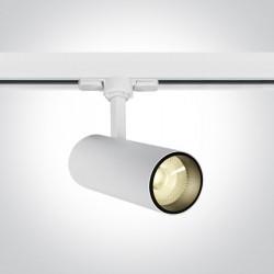 One Light biały reflektor na szynę Skalitina 65642AT/W/W