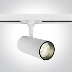 One Light reflektor LED biały na szynę 20W Skalitina 2 65642BT/W/C