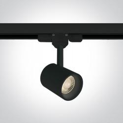One Light reflektor czarny LED na szynę Lampiri 65646T/B/W