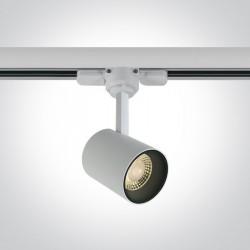 One Light reflektor czarny LED na szynę Lampiri 65646T/W/W
