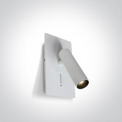 One Light lampa na ścianę z włącznikiem Kandila 2 65742/W/W