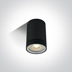 One Light lampa sufitowa czarna Lido 67130C/B IP54