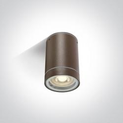 One Light lampa sufitowa brąz Lido 67130C/BR IP54