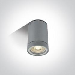 One Light lampa sufitowa szara Lido 67130C/G IP54