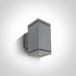 One Light kinkiet zewnętrzny szary Stromi K2 67132A/G IP54