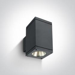 One Light kinkiet kostka antracyt Drymaia 67138A/AN/W IP54