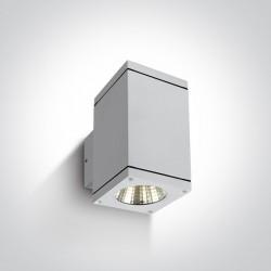 One Light kinkiet kostka antracyt Drymaia 67138A/W/W IP54