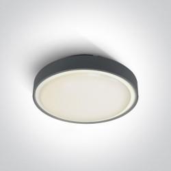 One Light plafon LED okrągły 36cm Poka 3 67280BN/AN/W IP65