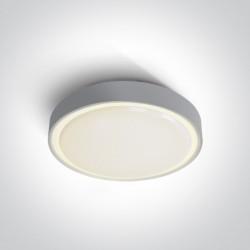 One Light plafon LED okrągły 36cm Poka 3 67280BN/G/W IP65