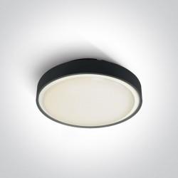 One Light plafon LED na zewnątrz czarny 30cm Rafti 2 67280EA/AN IP65