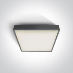 One Light plafon LED kwadratowy na zewnątrz 30x30 Pirnari 2 67282AN/AN/W IP65