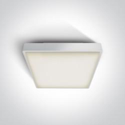 One Light plafon LED kwadratowy na zewnątrz 30x30 Pirnari 2 67282AN/W/W IP65