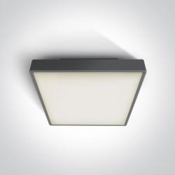 One Light plafon LED kwadratowy na zewnątrz Pirnari 3 67282BN/AN/W IP65