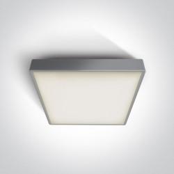 One Light plafon LED kwadratowy na zewnątrz Pirnari 3 67282BN/G/W IP65