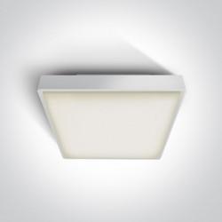 One Light plafon LED kwadratowy na zewnątrz Pirnari 3 67282BN/W/W IP65