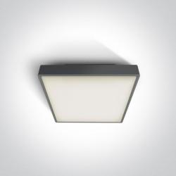 One Light plafon na zewnątrz kwadratowy 22x22cm Miladeza 67282E/AN IP65