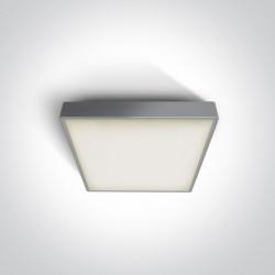 One Light plafon na zewnątrz kwadratowy 22x22cm Miladeza 67282E/G IP65
