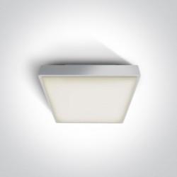 One Light plafon na zewnątrz kwadratowy 22x22cm Miladeza 67282E/W IP65