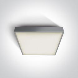 One Light plafon kwadratowy 30 cm na zewnątrz Warkiza 67282EA/G IP65