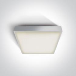 One Light plafon kwadratowy 30 cm na zewnątrz Warkiza 67282EA/W IP65