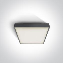One Light plafon kwadratowy 22 cm antracyt Pirnari 67282N/AN/W IP65