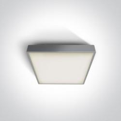 One Light plafon kwadratowy 22 cm szary Pirnari 67282N/G/W IP65