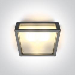 One Light szary kwadratowy kinkiet 25cm 15W Tampouria S IP54