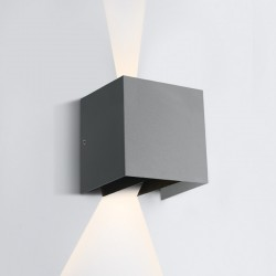 One Light kinkiet szary z regulowaną wiązką światła Ierapoli 67340A/G/W IP54