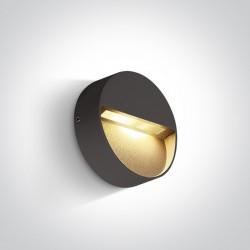 One Light kinkiet LED okrągły antracyt do mieszkania ogrodu Platonas 67359/AN/W IP54