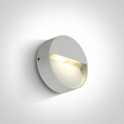 One Light kinkiet LED okrągły biały do mieszkania ogrodu Platonas 67359/W/W IP54