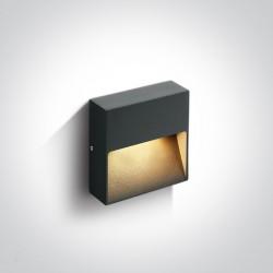 One Light kwadratowy antracytowy kinkiet do domu na elewację Skliri 67359A/AN/W IP54