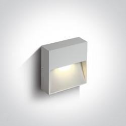 One Light kwadratowy czarny kinkiet do domu na elewację Skliri 67359A/AN/W IP54
