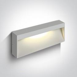 One Light kinkiet do montażu na elewacji domu Tsakali 3 67359B/W/W IP54