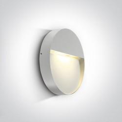 One Light kinkiet biały okrągły do montażu na ścianie elewacji Platonas 2 67360/W/W IP54