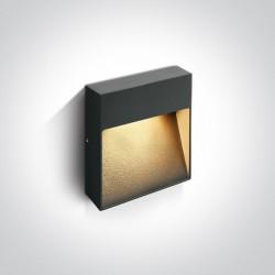 One Light kinkiet prostokątny antracyt na ścianę elewację domu Skliri 2 67360A/AN/W IP54
