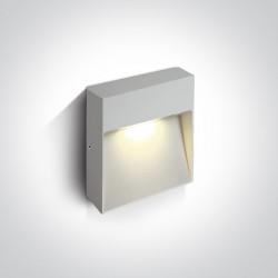 One Light kinkiet prostokątny biały na ścianę elewację domu Skliri 2 67360A/W/W IP54