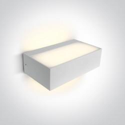 One Light kinkiet montaż uniwersalny biały Bevino 67362C/W/W IP54