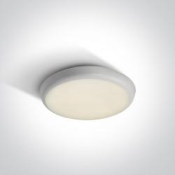 One Light biały plafon LED 25 cm zewnętrzny wewnętrzny Livisi 67366/W/C IP54