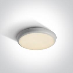 One Light biały plafon LED 25 cm zewnętrzny wewnętrzny Livisi 67366/W/W IP54