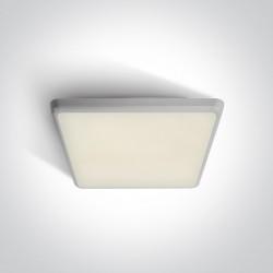 One Light plafon kwadratowy LED do mieszkania 30 cm Velo 67372/W/C IP54