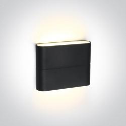 One Light kinkiet zewnętrzny antracyt stylowy design Koutsi 67376/AN/W IP54