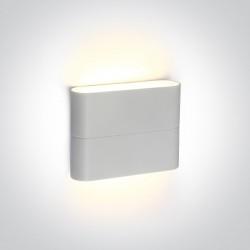 One Light kinkiet zewnętrzny biały stylowy design Koutsi 67376/W/W IP54